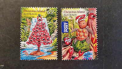 N0-2--2015  Christmas   Island -Christmas   Issues   2 Stamps -F/s --Mint