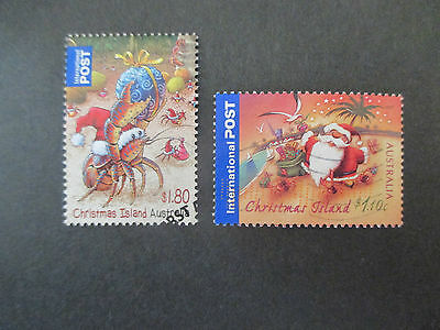 2007-2014  Christmas  Island     Issues   2  Stamps  -Used- High  Values  - A1