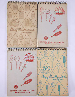 Lot of 4 VTG 1952, 1957, 1958 Stanley Home Products Stanhome Calendar Note Pads