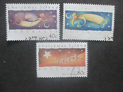 No-4---1994    CHRISTMAS   ISLAND   ISSUED    3  STAMPS -- F/S       USED