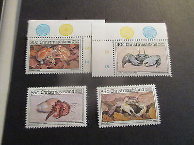No--1--1985 Christmas  Island -Crabs  Series One--4 Stamps  - Mint-Mnh-Great Lot