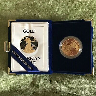 Gold American Eagle $50 Proof 1oz Coin - In Capsule (1989)