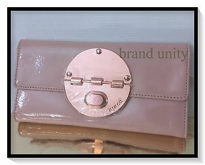 Mimco Leather TURNLOCK WALLET CLUCTH PURSE BAG BNWT Blush Pink RRP $199