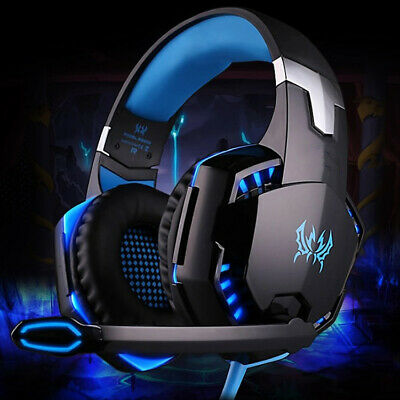 USB 3.5mm Gaming Headset MIC LED Headphones G2000B for Laptop PS4 Xbox One 360E
