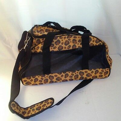 Animal Print Small Cat or Small Dog Pet Carrier