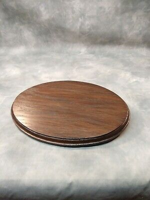 Solid Hard wood oak display bases and plinths wooden base 203mm x 127mm x 20mm