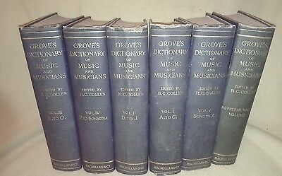 Groves Dictionary of Music  H G Colls (ed) 6 Volumes 1940