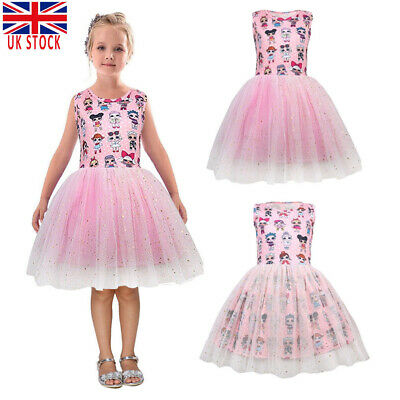 LOL Surprise Girl Doll Dress Kids Gift Cute Party Costume Fancy Tutu Dresses UK
