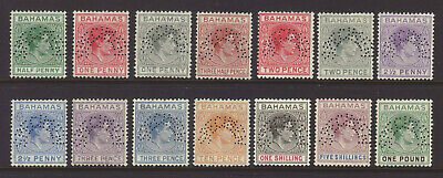 1938 Bahamas Kgvi Complete Set Perforated Specimen Mlh