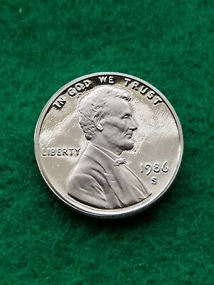1986-s  Uncirculated Lincoln cent/penny-proof- **Free ship**