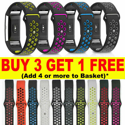 Sport Replacement For Fitbit Charge 2 Silicone Watch Band Bracelet Strap Soft -