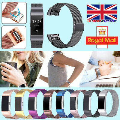 Magnet Strap Replacement Milanese Band Metal Stainless Steel For Fitbit Charge 2