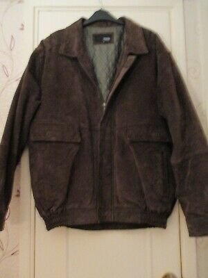 Mens Hero Pelle Vintage Brown Suede Leather Davidson Motorcycle Vest 48 Chest Clothes, Shoes & Accessories