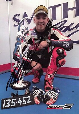 Peter Hickman Bsb & Isle Of Man Tt Motorcycle Rider Authentic Hand-Signed Photo