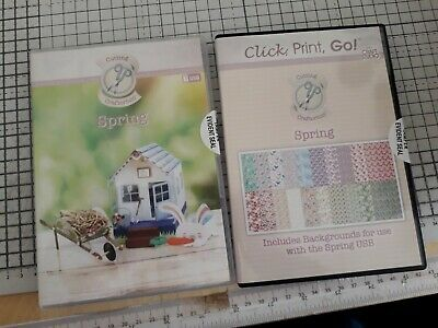 Cutting Craftorium 'Spring' Svg Files Usb & Cd Rom Of 200 + Backing Papers
