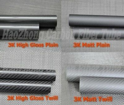 3k Carbon Fiber Tube OD 6 10 12mm 14 16 20 22 24 25mm 30mm 32 40 50 x 1000mm US