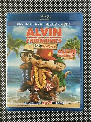 ALVIN AND THE CHIPMUNKS Chipwrecked Blu-ray + DVD+ Digital US / Canadian NEW