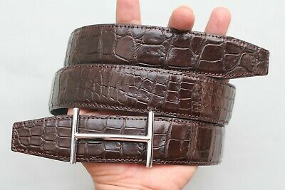 Brown Genuine Freshwater Crocodile Leather SKIN Men/'s BELT W3.5cm