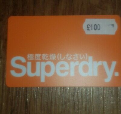 Superdry £100 Giftcard Gift Card Clothes Voucher Instore & Online