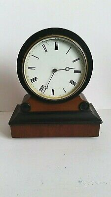 Small  Antique Drumhead Mantel Clock . French Movement .