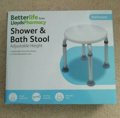 Betterlife Shower & Bath Stool Adjustable Height by Lloyds Pharmacy - Free P&P