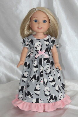 Dress Nightgown fits 14inch American Girl Wellie Wishers Doll Clothes