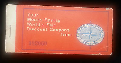 1964 New York Worlds Fair Discount Coupon Book Courtesy First National City Bank