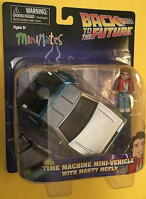 MiniMates Mart McFly & DeLorean Time Machine Vehicle Back to the Future NEW