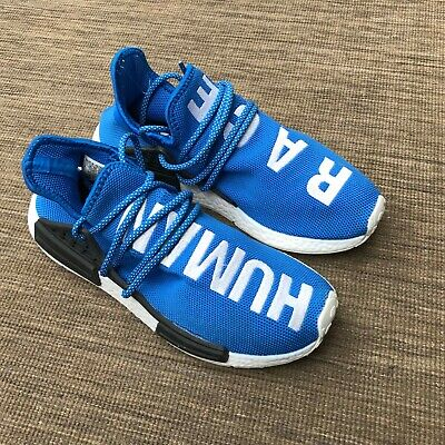 0f5c9d5c65dd5 MENS ADIDAS HUMAN RACE Pharrell Williams NMD HU UK 7.5 BLUE SHOES TRAINERS