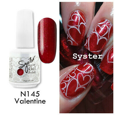 SYSTER 15ml Nail Art Soak Off Color UV Gel Polish N145 - Valentine