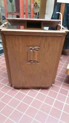 Church Pulpit Hostess Station  oak with adjustable lectern
