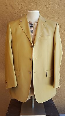 ENZO Tovare Collection Men's YellowBeige Wool 3 Btn Sport Jacket 50EU 40US Italy