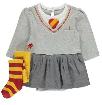 Bn Harry Potter Hermione Bodysuit Tights Outfit Fancy Dress Party Gift 6-9M Cute