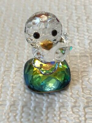 Swarovski Crystal Miniature Baby Chick on Rainbow Base