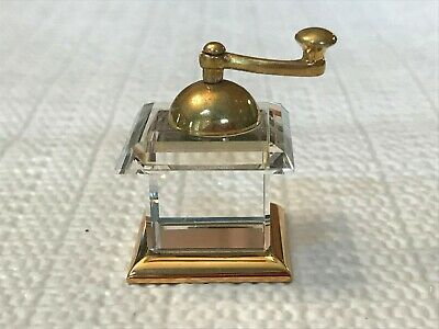 Vintage Swarovski Crystal Memories ~Miniature Coffee Grinder