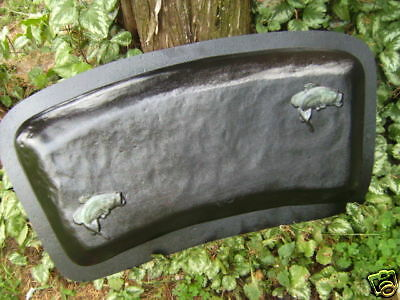 Bass fish bench top mold concrete casting mould