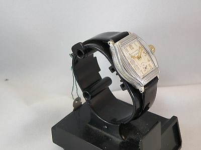 early 1900`s ELGIN ART DECO STEPPED & ETCHED CASE MAN`S  WATCH...AWESOME DIAL