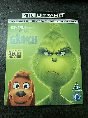 The Grinch (2018) - 4K Ultra Hd + Blu Ray + Slip Cover *new*
