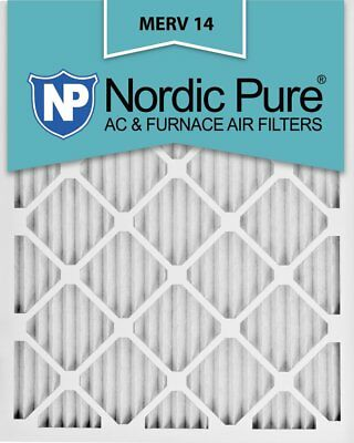 Nordic Pure 15x20x1M14-6 Pleated AC Furnace Air Filter, Box of 6