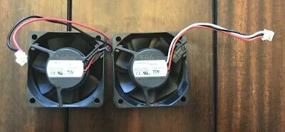 TWO COOLING FANS for Brother Laser Printer Genuine OEM Parts Nidec  D06K-24TS10