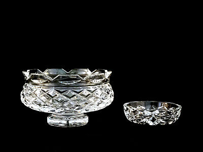 Waterford Crystal Footed Scalloped Bowl & Trinket Dish