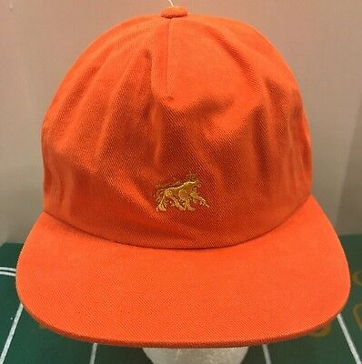 c6c63a37480 Stussy Zion Lion Logo Baseball Ball Cap Dad Hat StrapBack Orange Men s OSFA  NWT