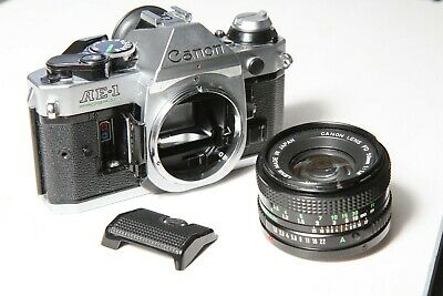 NR Canon AE1 Program 35mm SLR with FD 50mm f1.8 FILM TESTED excellent condition