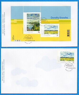 Set of Two 2006 Canada FDC First Day Covers #2147-48 - Art Dorothy Knowles