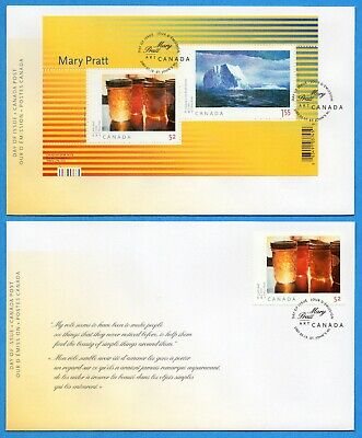Set of Two 2007 Canada FDC First Day Covers #2211-2212 - Art Mary Pratt