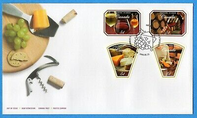 2006 Canada FDC First Day Cover #2168-2171 - Canadian Wine And Cheese