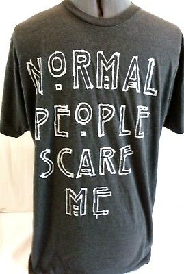 "American Horror Story-""Normal People Scare Me"" Mens T-Shirt, Size Medium"