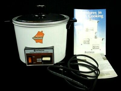 Vintage MCM HITACHI Chime-O-Matic Model RD-4053 5.6 cup Food Steamer Rice Cooker