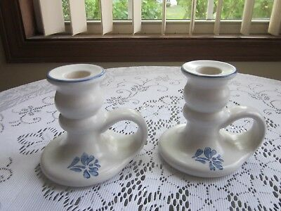 Pfaltzgraff Yorktowne  2 Candle Holders Excellent Condition