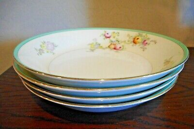Four Vintage Handpainted Nsp China Bowls, Made In Japan